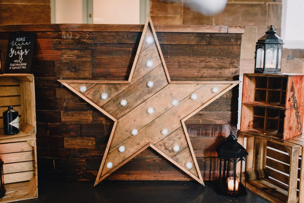 Vintage star decor at west mill