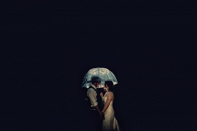 bride groom at night