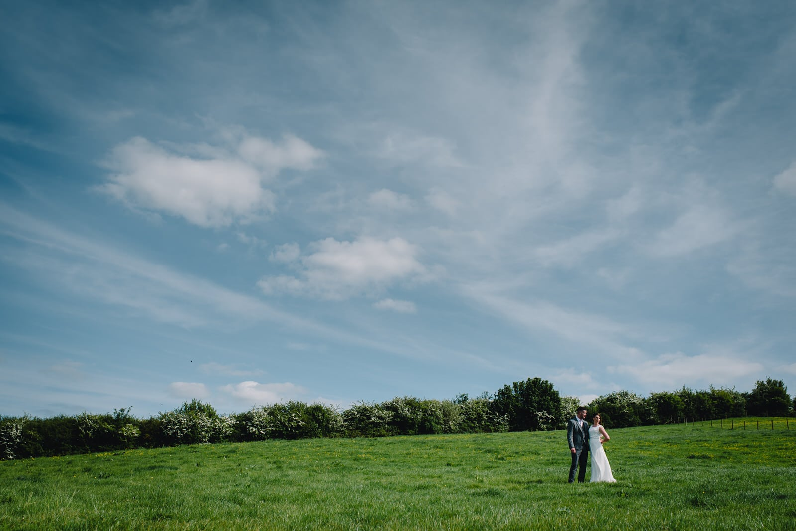 northamptonshire country side wedding photograph