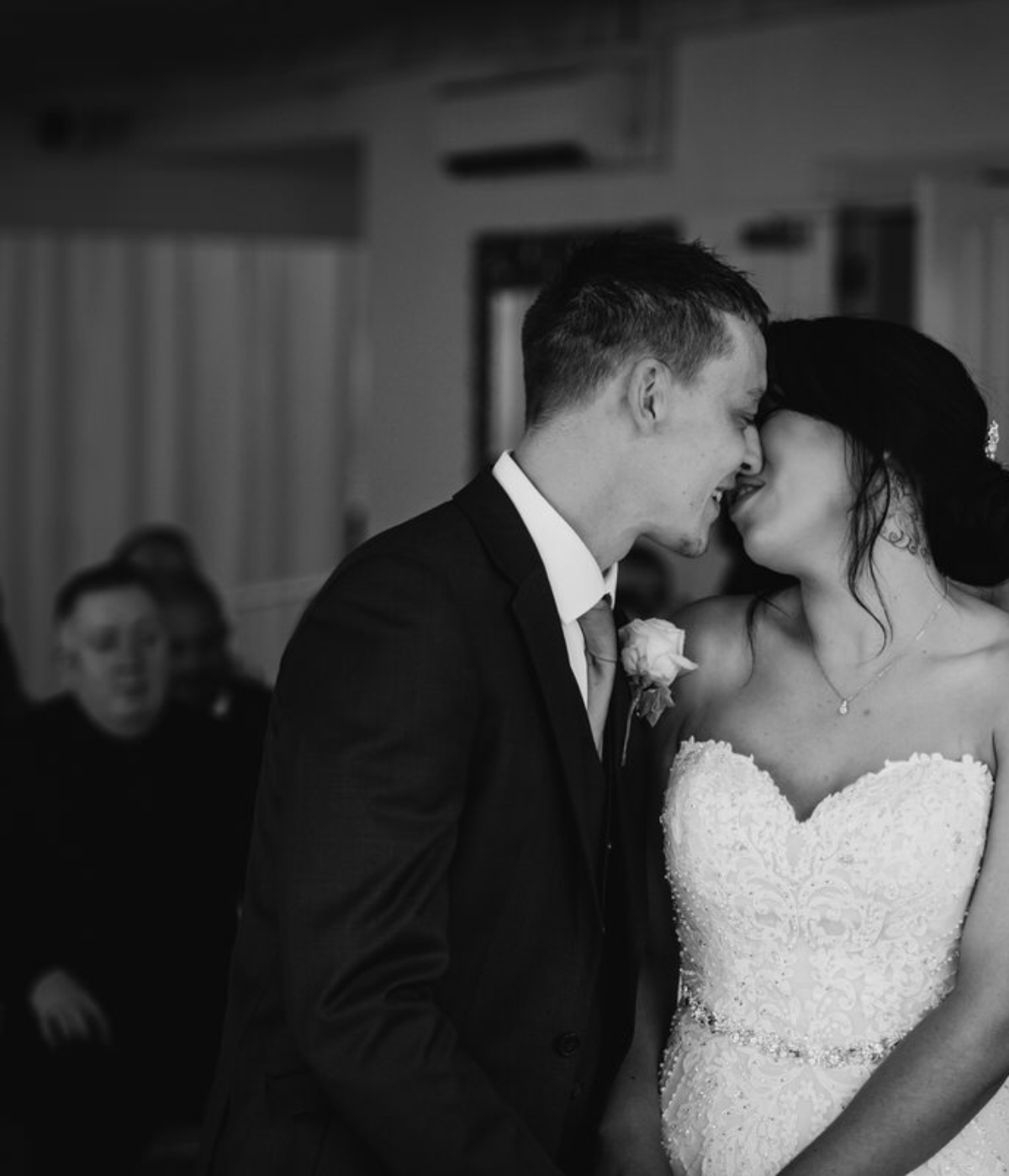 first kiss in the ceremony